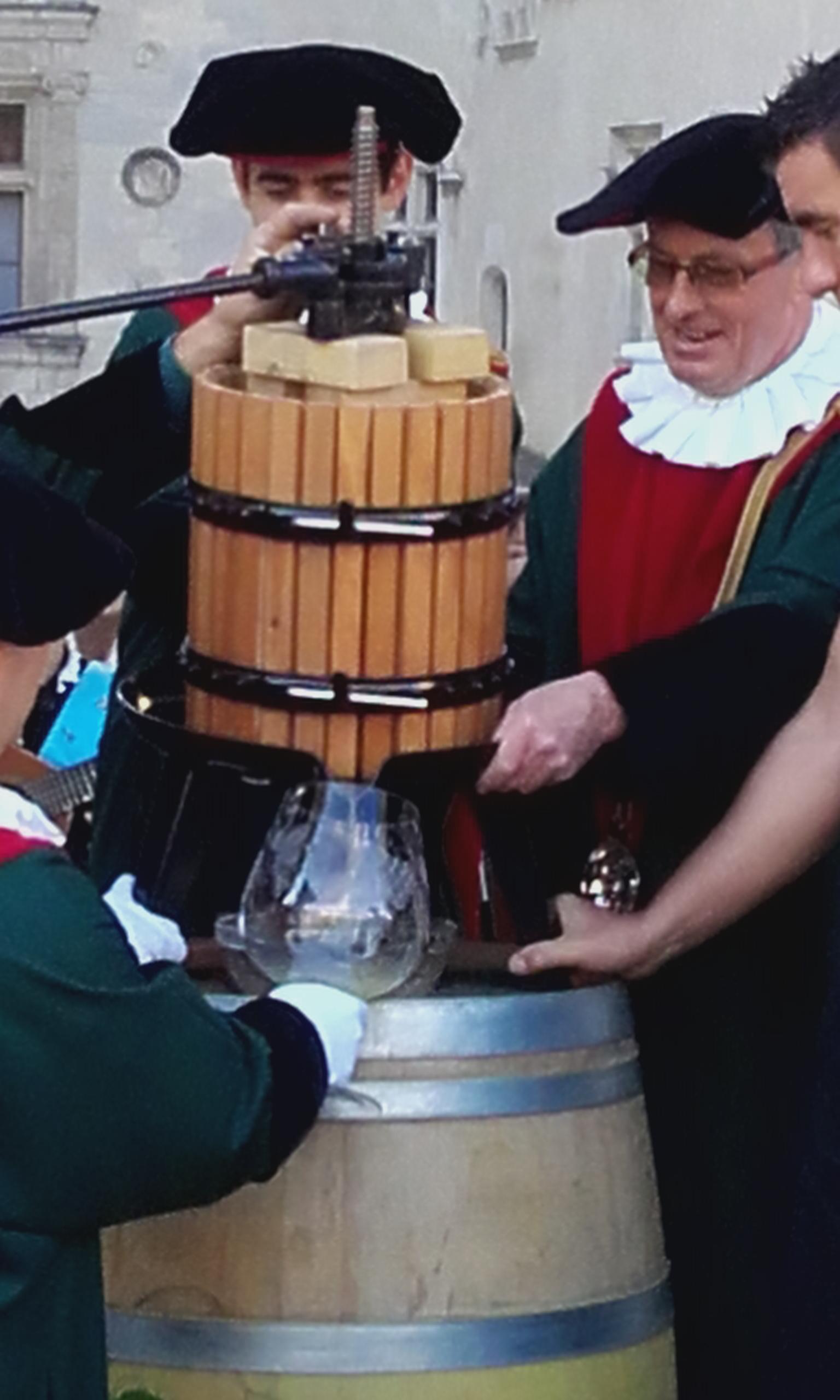 Récupération du jus au pressoir