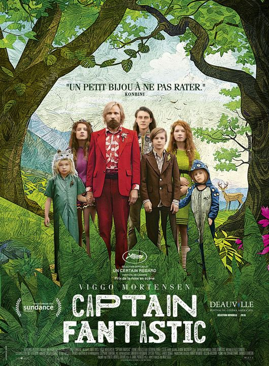 Affiche officielle du film Captain Fantastic