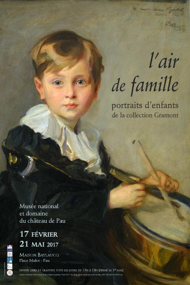 """Affiche de l'expo - Portrait d'Antoine XIII de Gramont dit """"L'enfant au tambour"""" par Philip Alexius de Laszlo, Paris 1911"""
