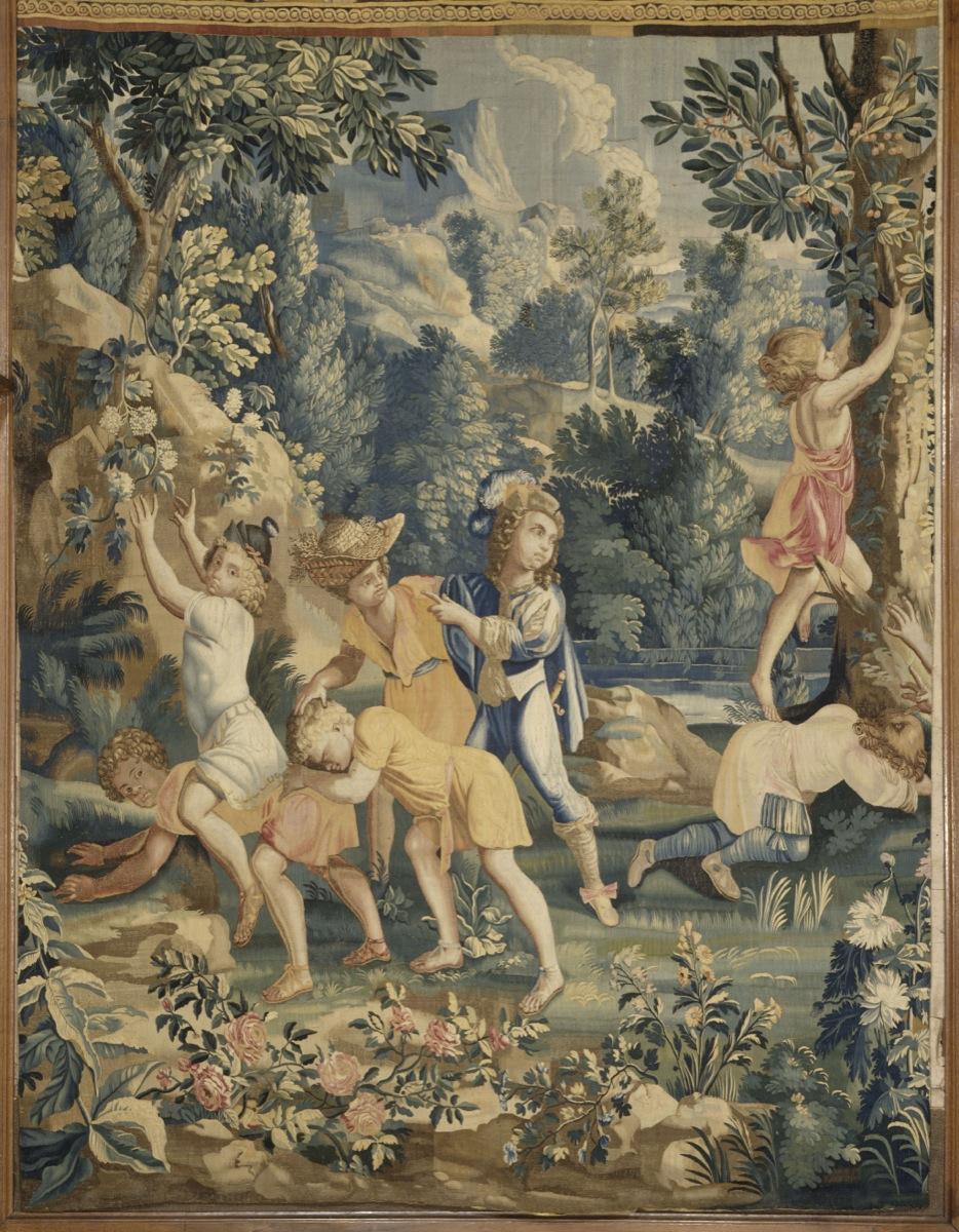 Corneille Michel, l'Ancien (1602-1664) - Les Jeux d'enfants. Enfants jouant au cheval fondu