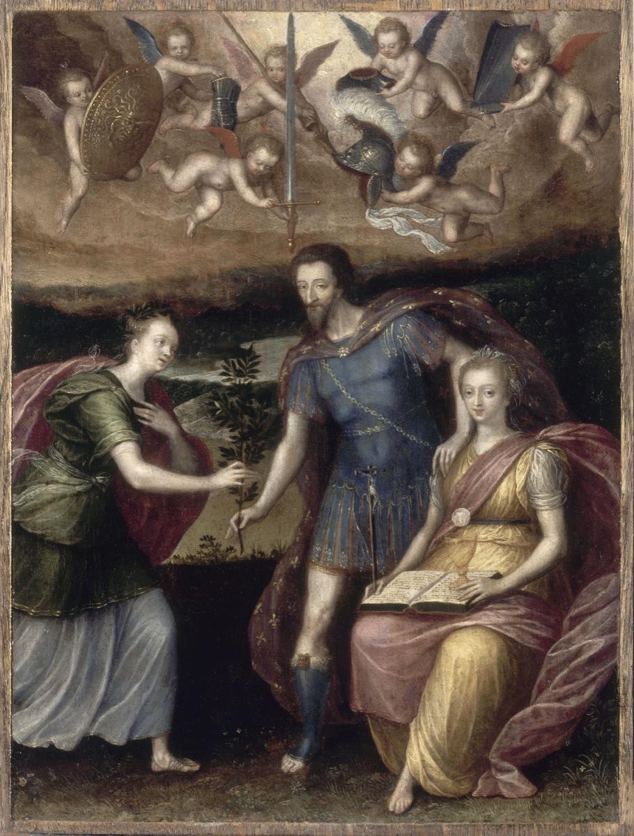 Anonyme - Henri IV s'appuyant sur la religion pour donner la paix à la France