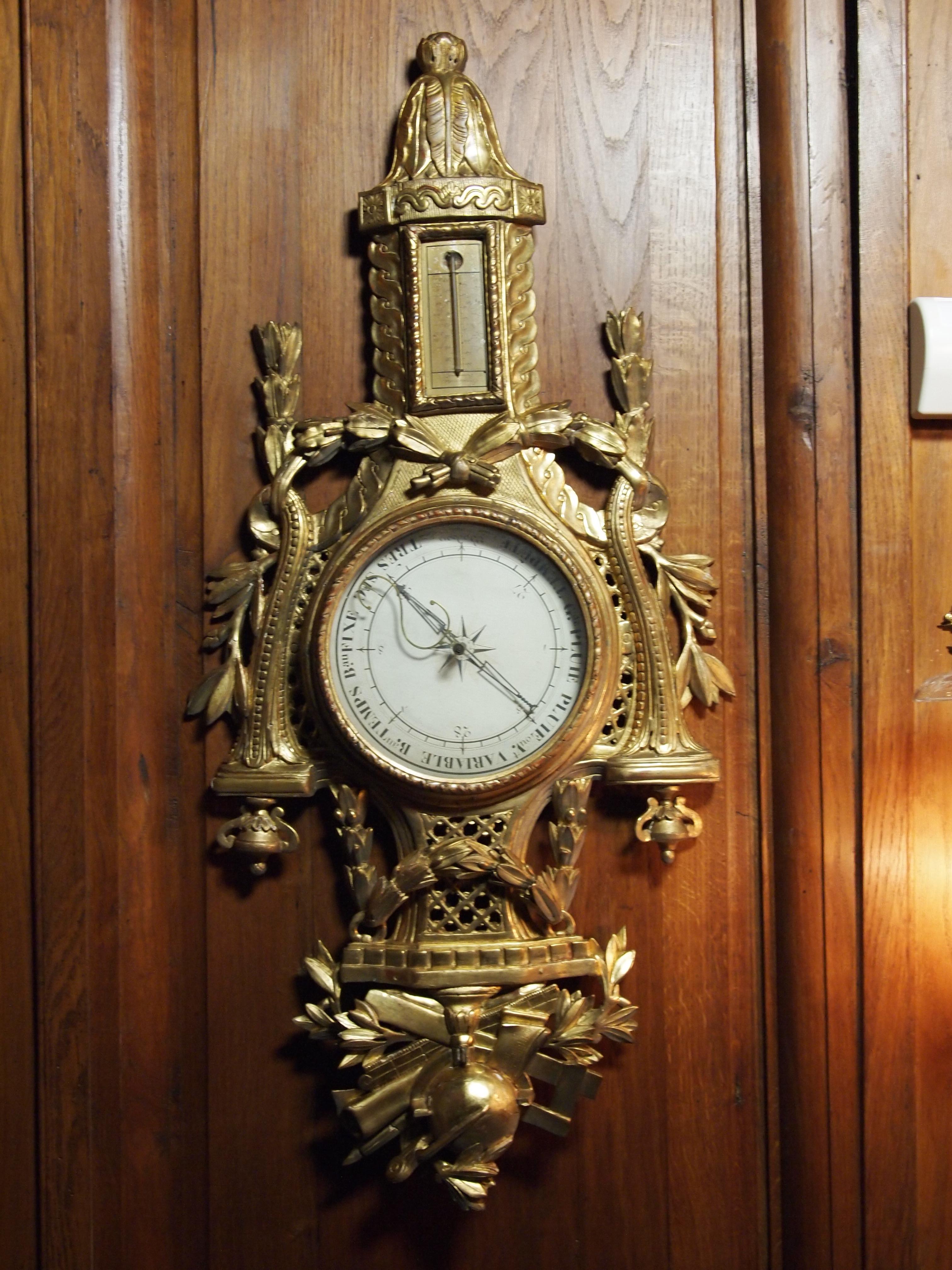 Baromètre-thermomètre Louis XVI - chambre de l'Impératrice - Château de Pau