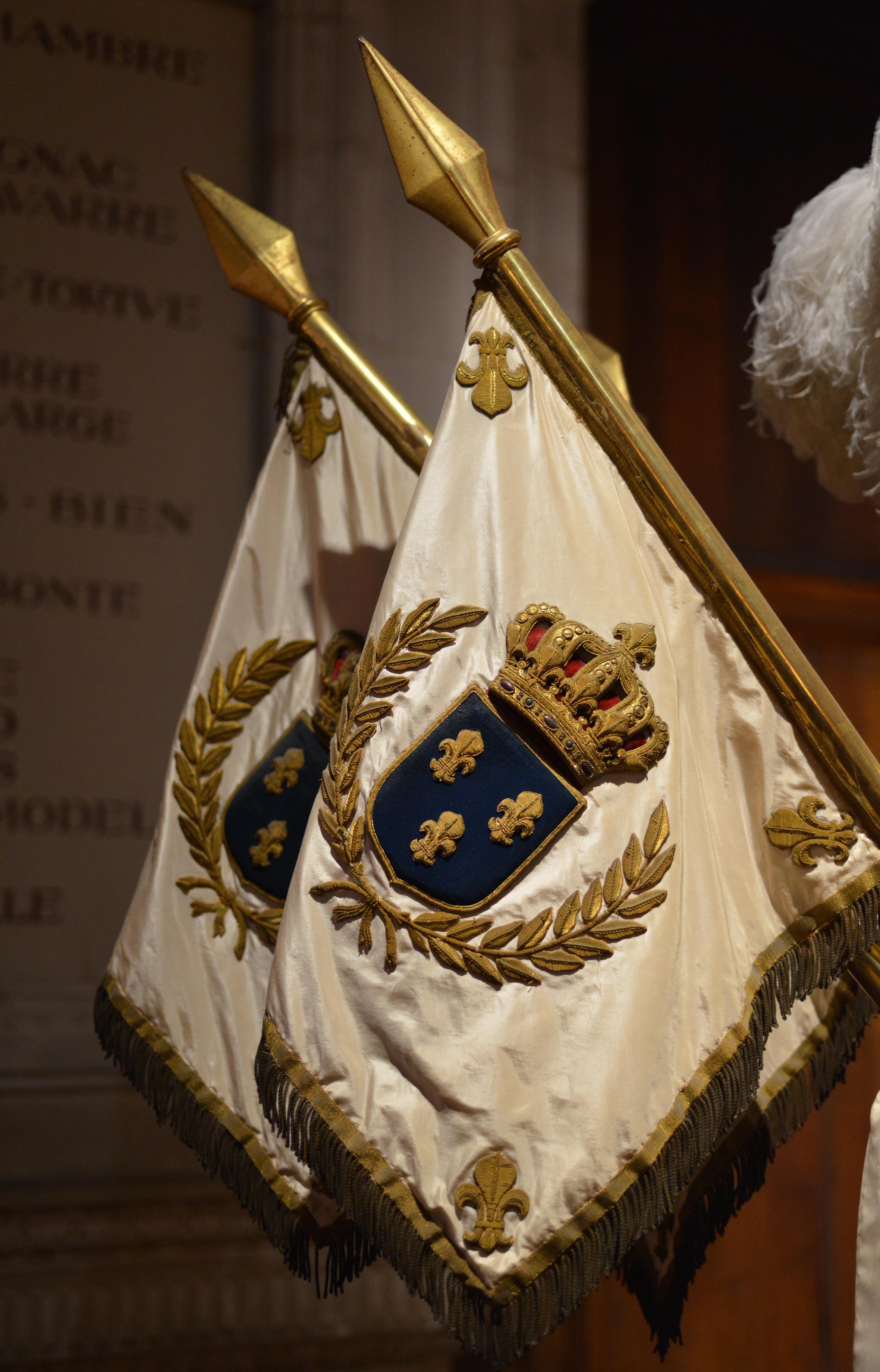 Détail du décor du berceau-carapace du roi Henri IV - La France