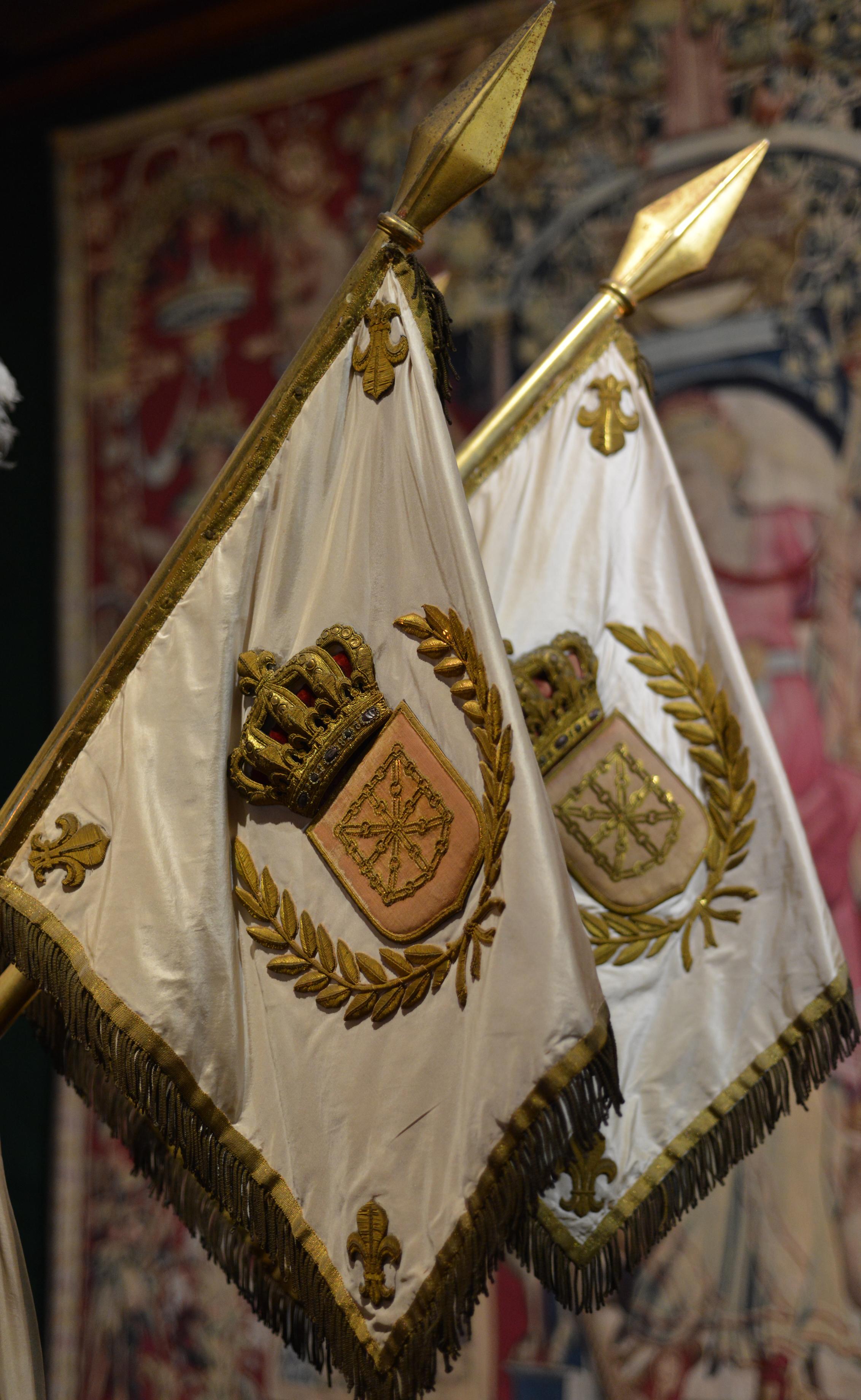 Détail du décor du berceau-carapace du roi Henri IV - La Navarre