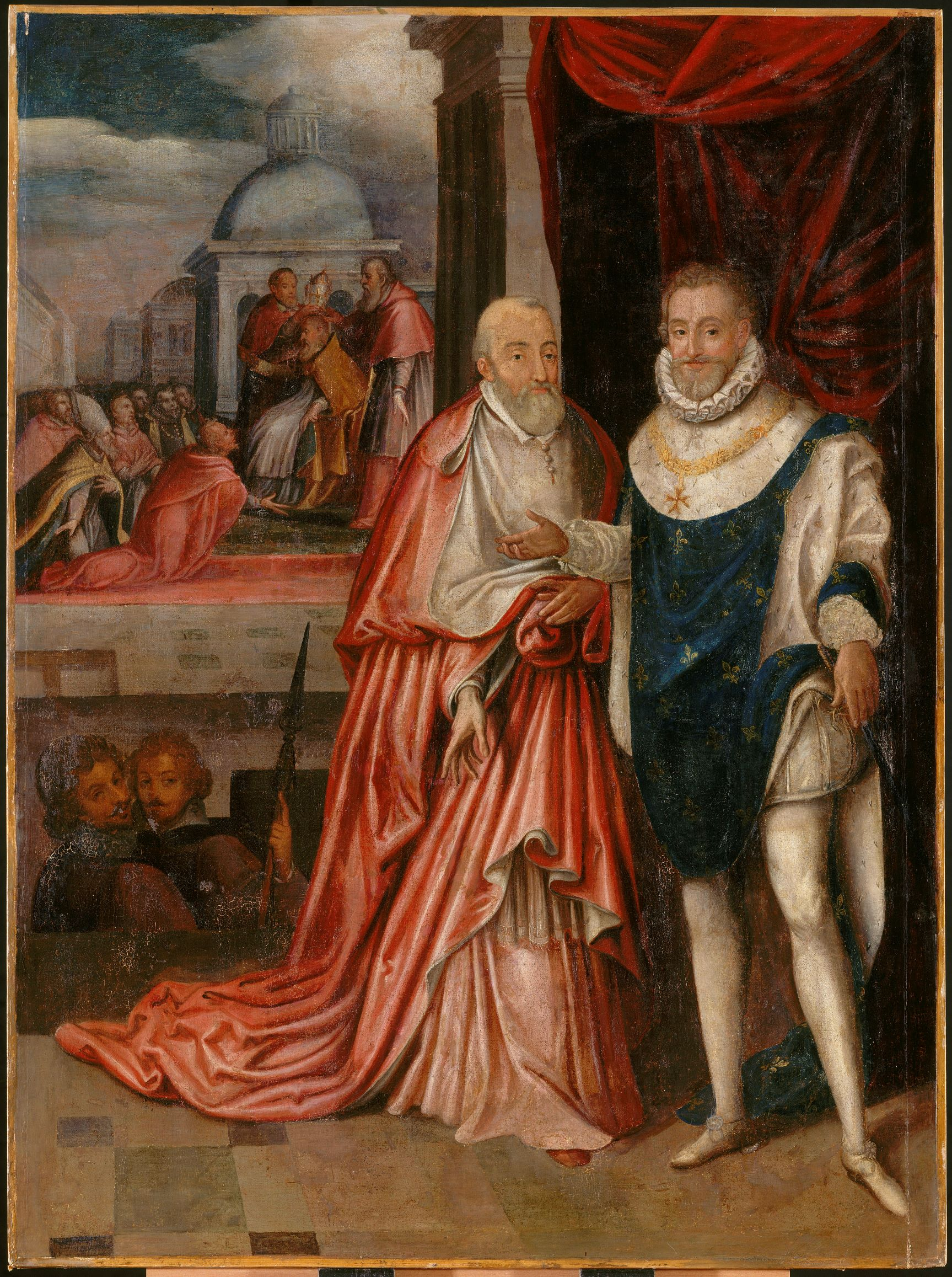 Henri IV et le cardinal Alexandre de Médicis, attribué à François Quesnel (v. 1543-1619), exécuté vers 1613