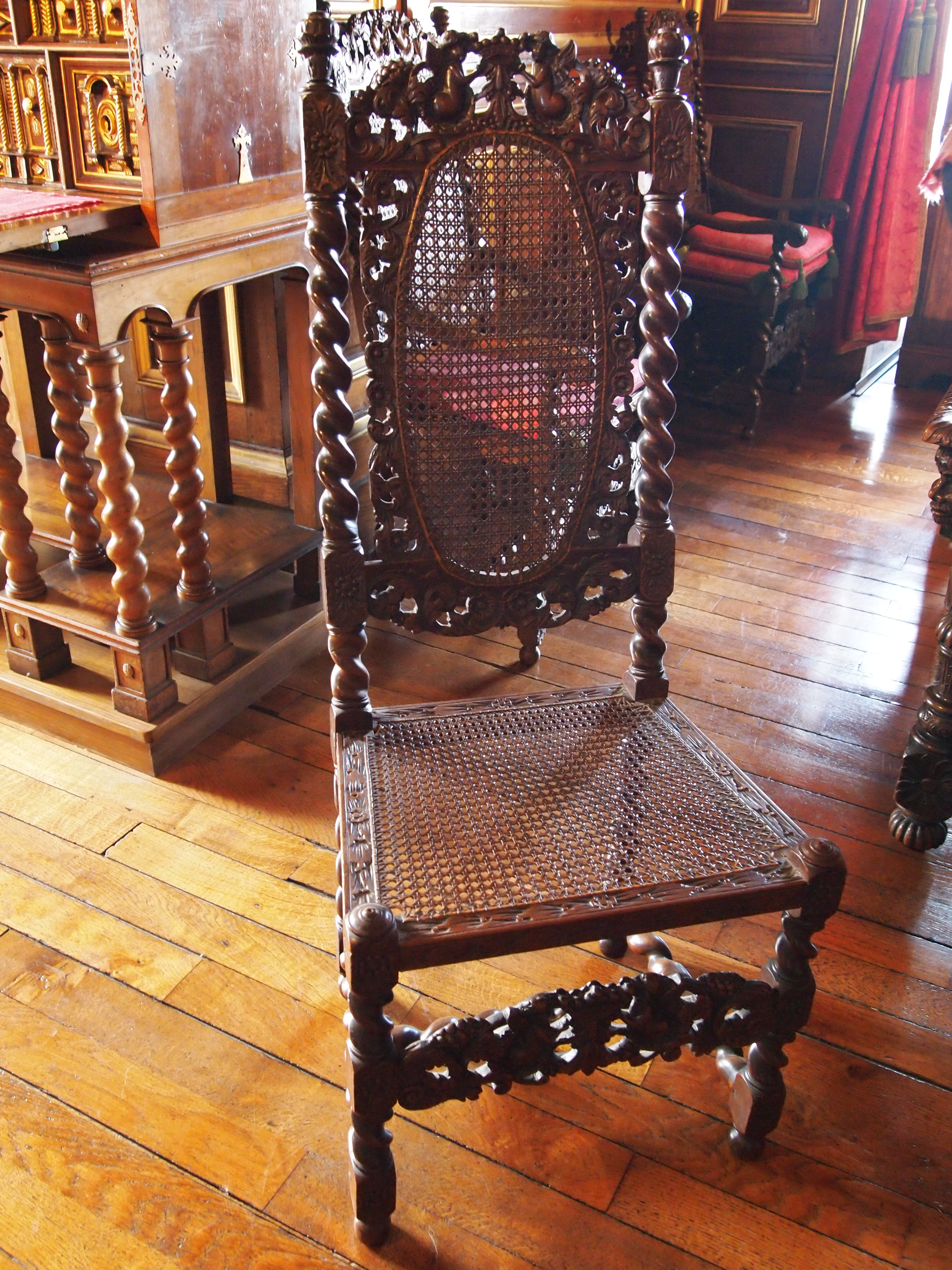 Chambre de l'Empereur - chaise cannelée - Château de Pau