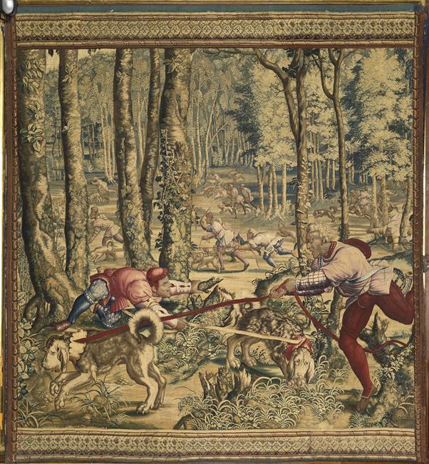Tenture des Chasses de Maximilien - Le limier