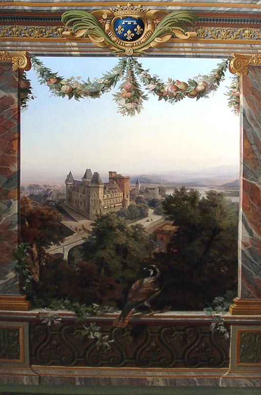 Le château de Pau, peinture de Siméon Fort (1793-1861)