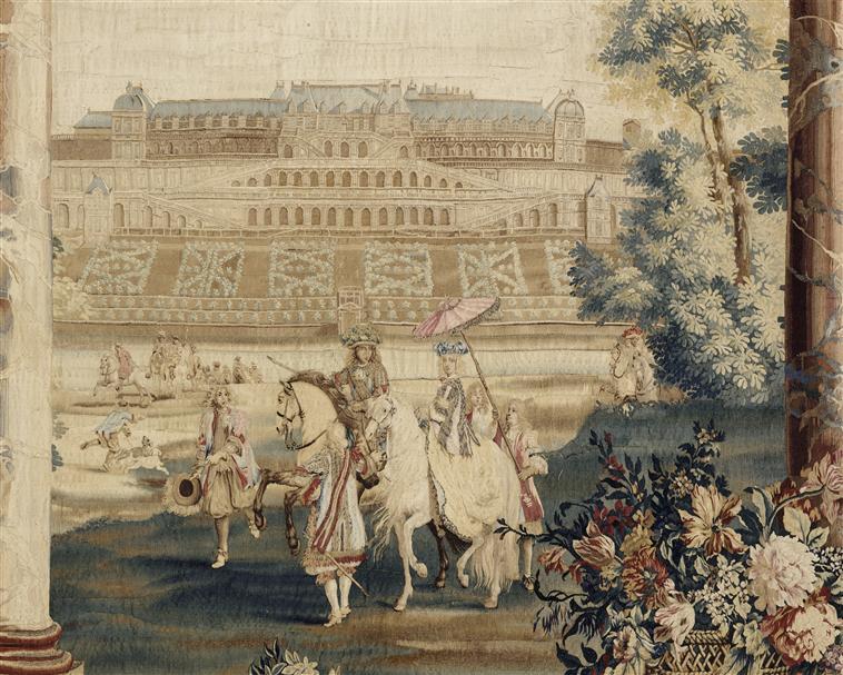 Tapisserie Château neuf St Germain - détail