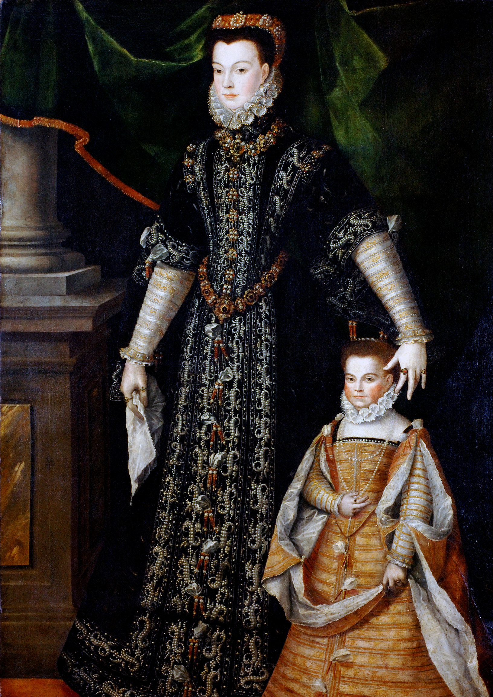 Portrait de Diane d'Andoins dite Corisande par Juan Pantoja de La Cruz (1553-1608)