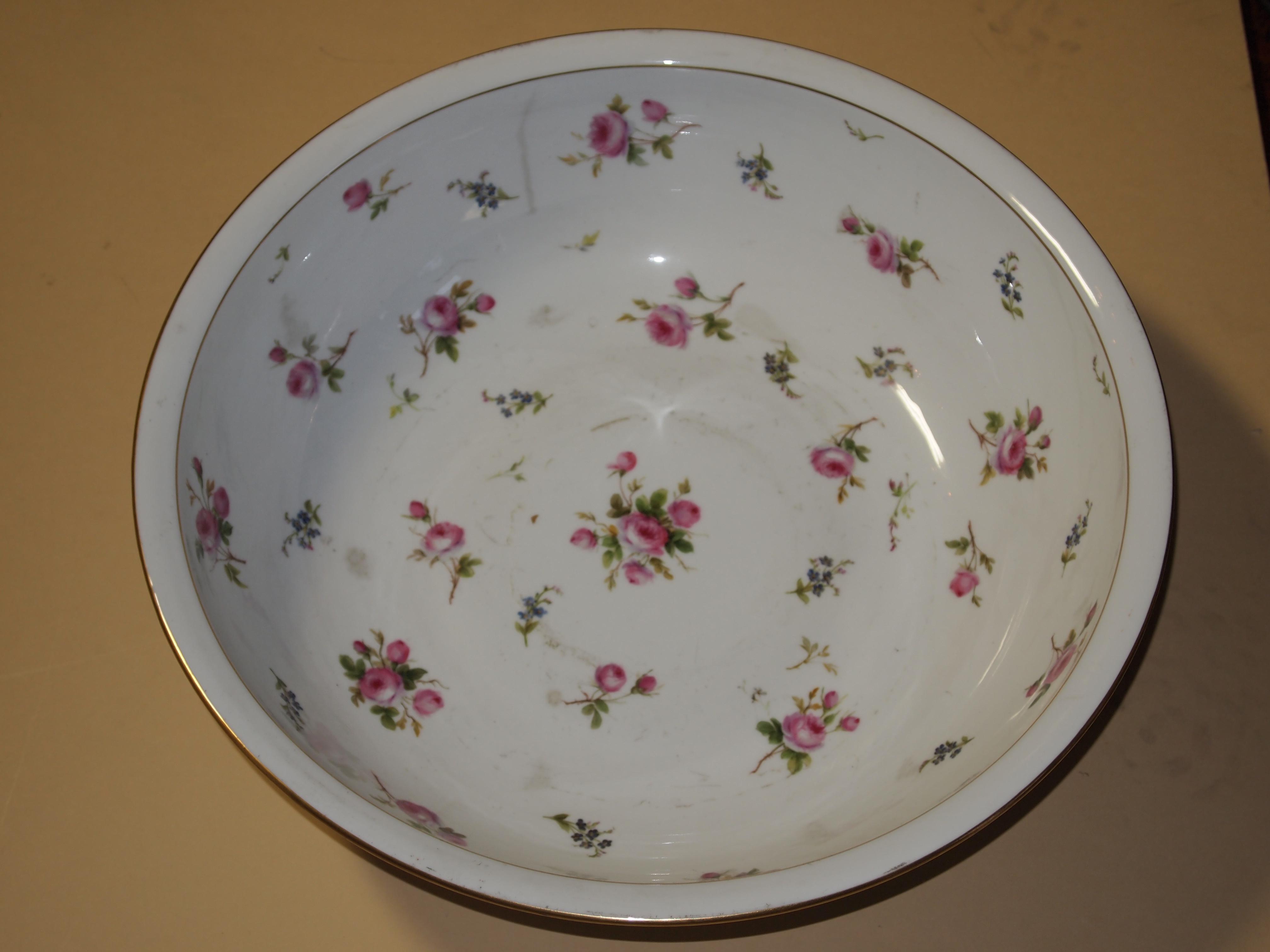 Cuvette - Porcelaine de Sèvres - chambre de l'Impératrice - Château de Pau