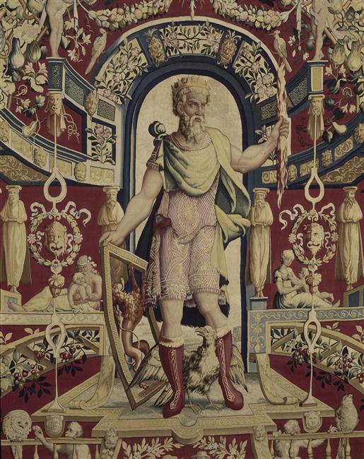 Tenture des Mois arabesques - Jupiter - détail