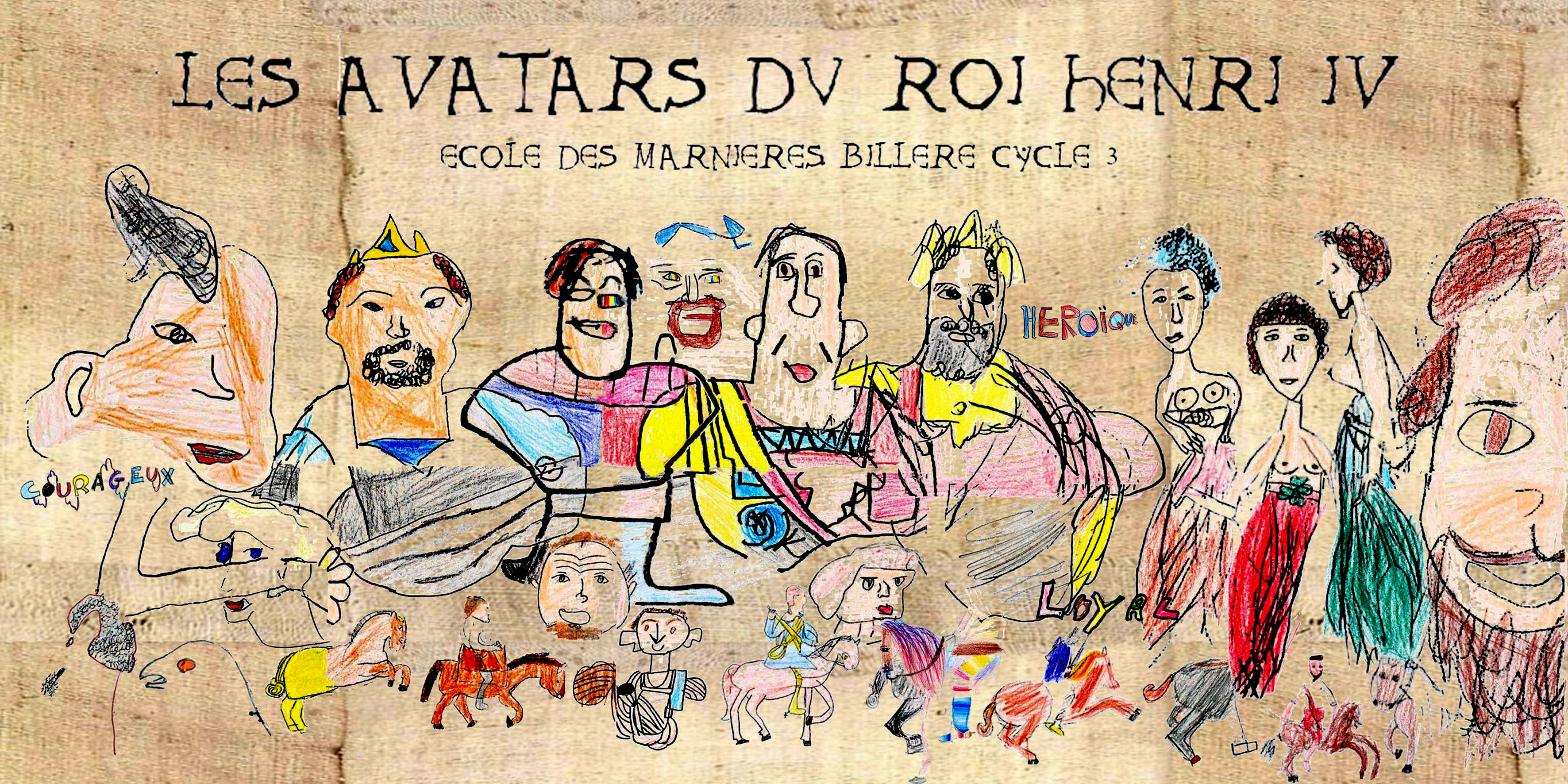 Fresque réalisée par l'école des Marnières