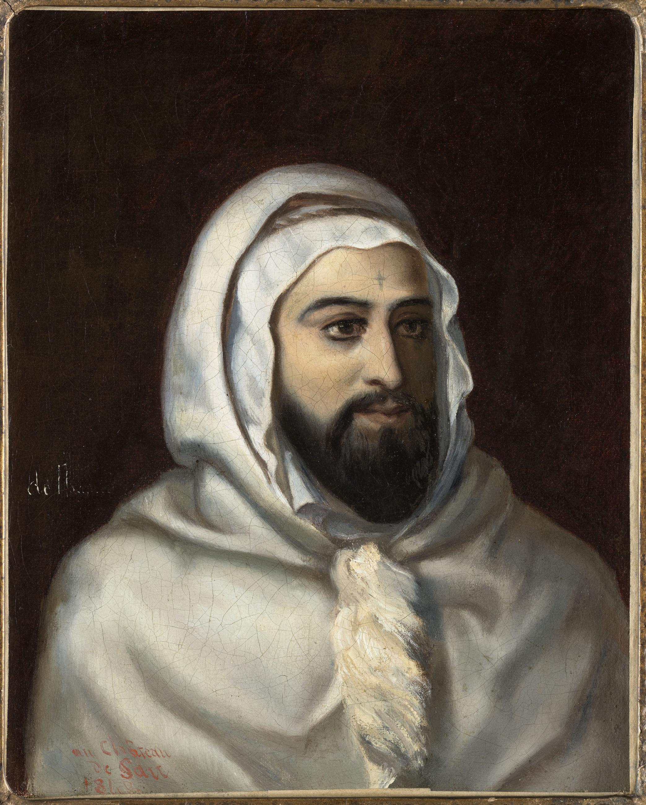 Portrait de l'Emir Abd el Kader par Charles-François Adolphe Eynard (1806-1876)