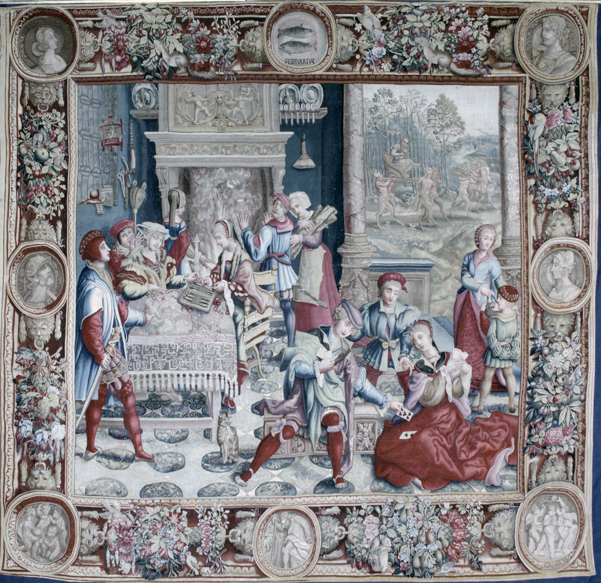 Tenture des Mois Lucas - Février - Le jeu de cartes