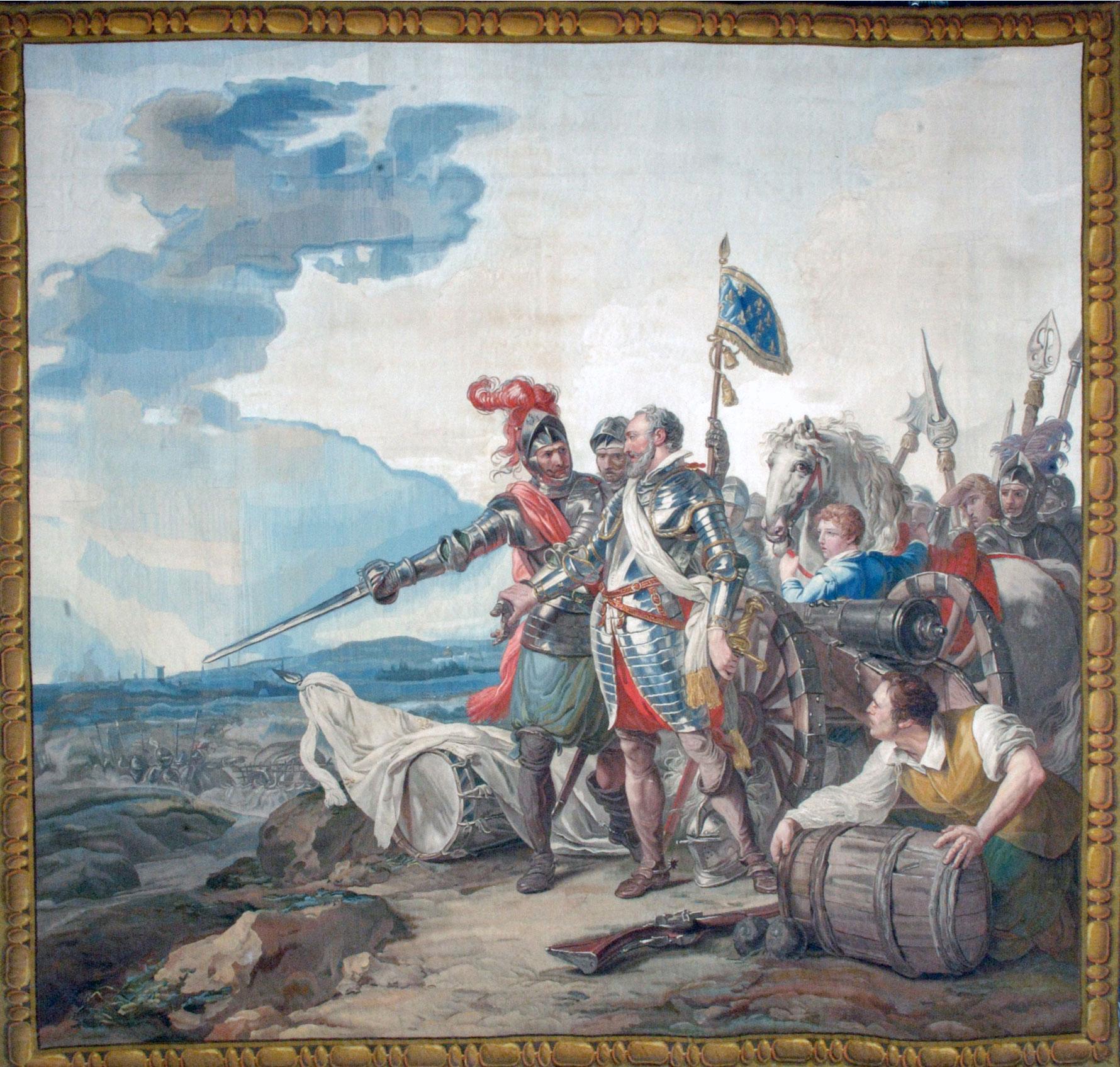 Tenture de l'Histoire d'Henri IV - Henri IV devant Paris assiégée
