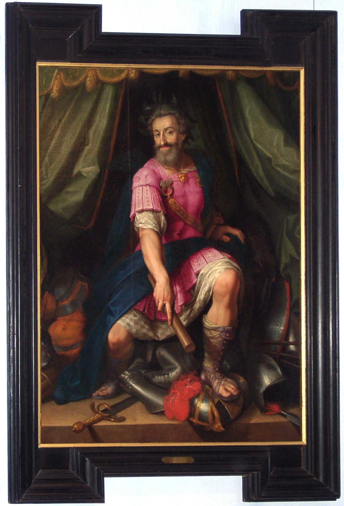 Portrait d'Henri IV dit en Dieu Mars, attribué à Jacob Bunel (1558-1614)