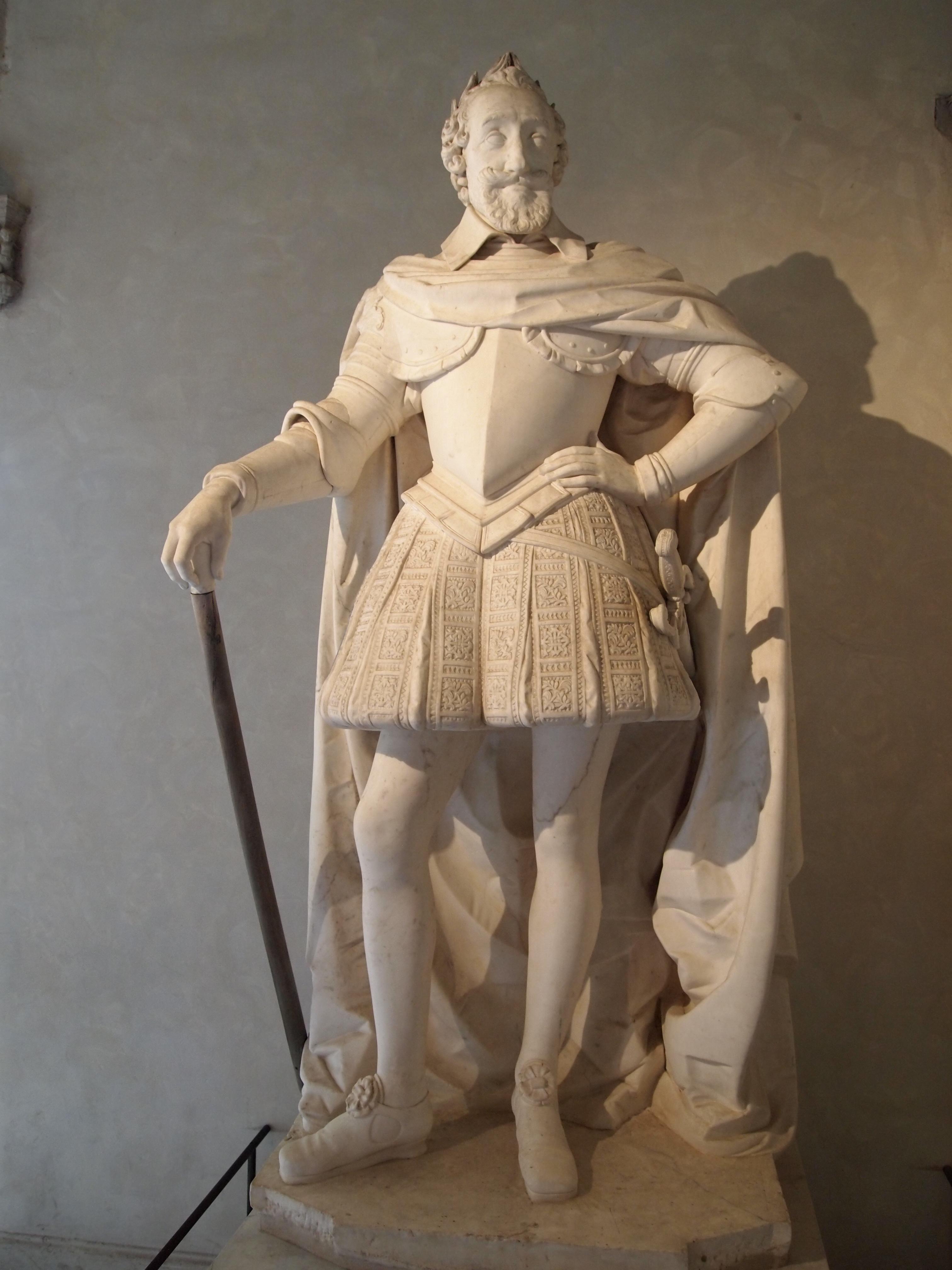 Henri IV en pied, sculpture de Barthélemy Tremblay (vers 1578-1629)