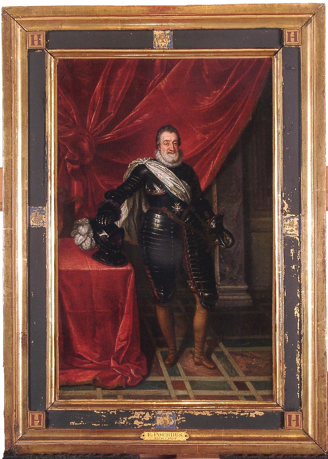 Henri IV en pied de Franz Pourbus le jeune (1569-1622)