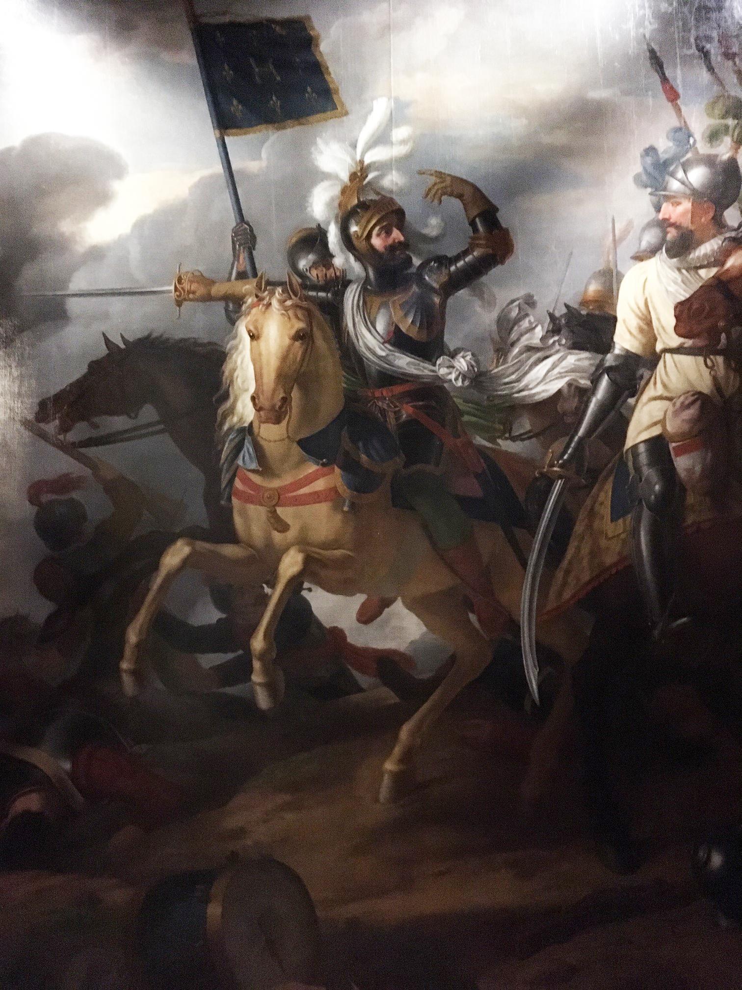 """""""Henri IV le matin de la bataille d'Ivry (14 mars 1590)"""" de Jean-Charles Tardieu dit Tardieu-Cochin (1765-1830)"""