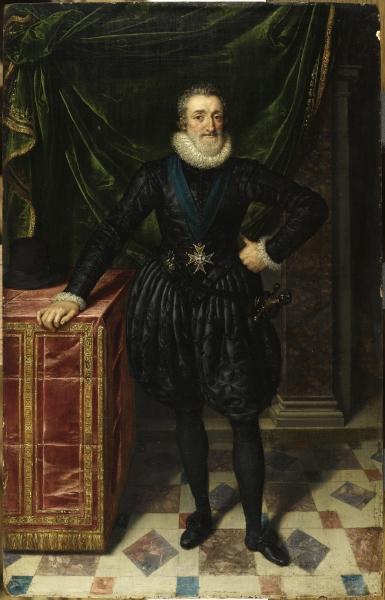Henri IV roi de France, en costume noir, Franz Pourbus Le Jeune,(Anvers 1569- Paris 1622)