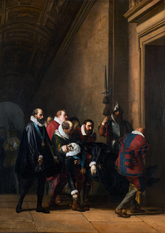 Henri IV rapporté au Louvre après son assassinat de Robert-Fleury (1797-1890)