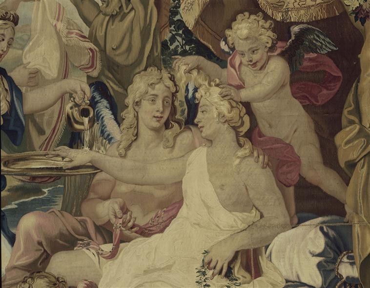 """""""L'hymen de l'Amour et de Psyché"""" d'après Louis de Boulogne (1654-1733) - Tenture des Sujets de la Fable"""