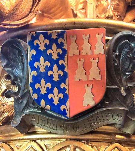Blason Alphonse de Poitiers