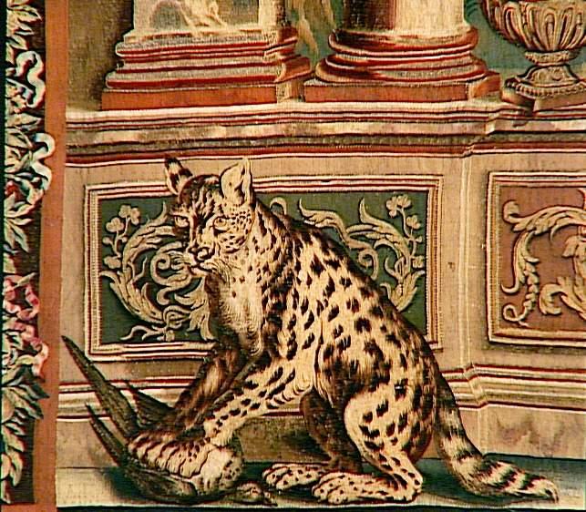"""Tenture des """"Maisons Royales - Château vieux St Germain - détail"""