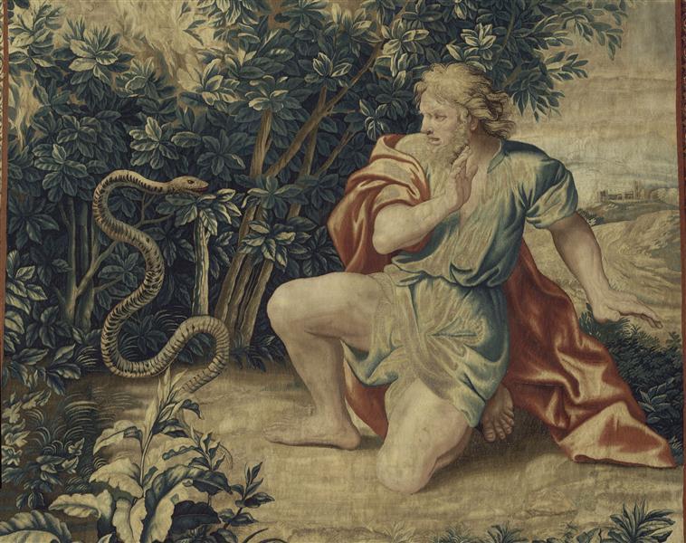 """""""Le Buisson ardent"""" d'après Charles Le Brun (1619-1690) - Tenture de l'Histoire de Moïse"""