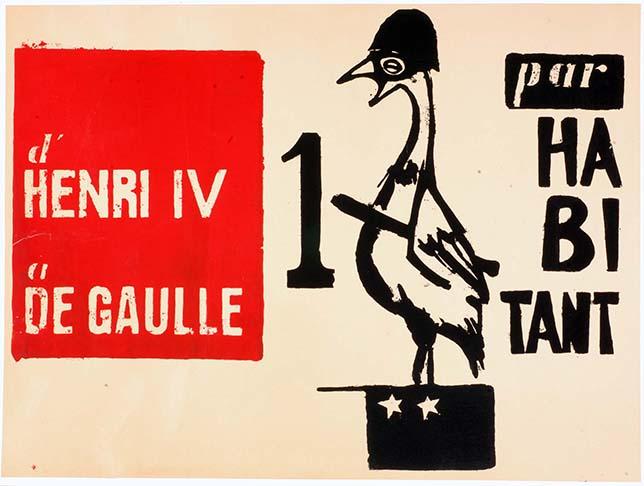 Affiche d'Henri IV à De Gaulle