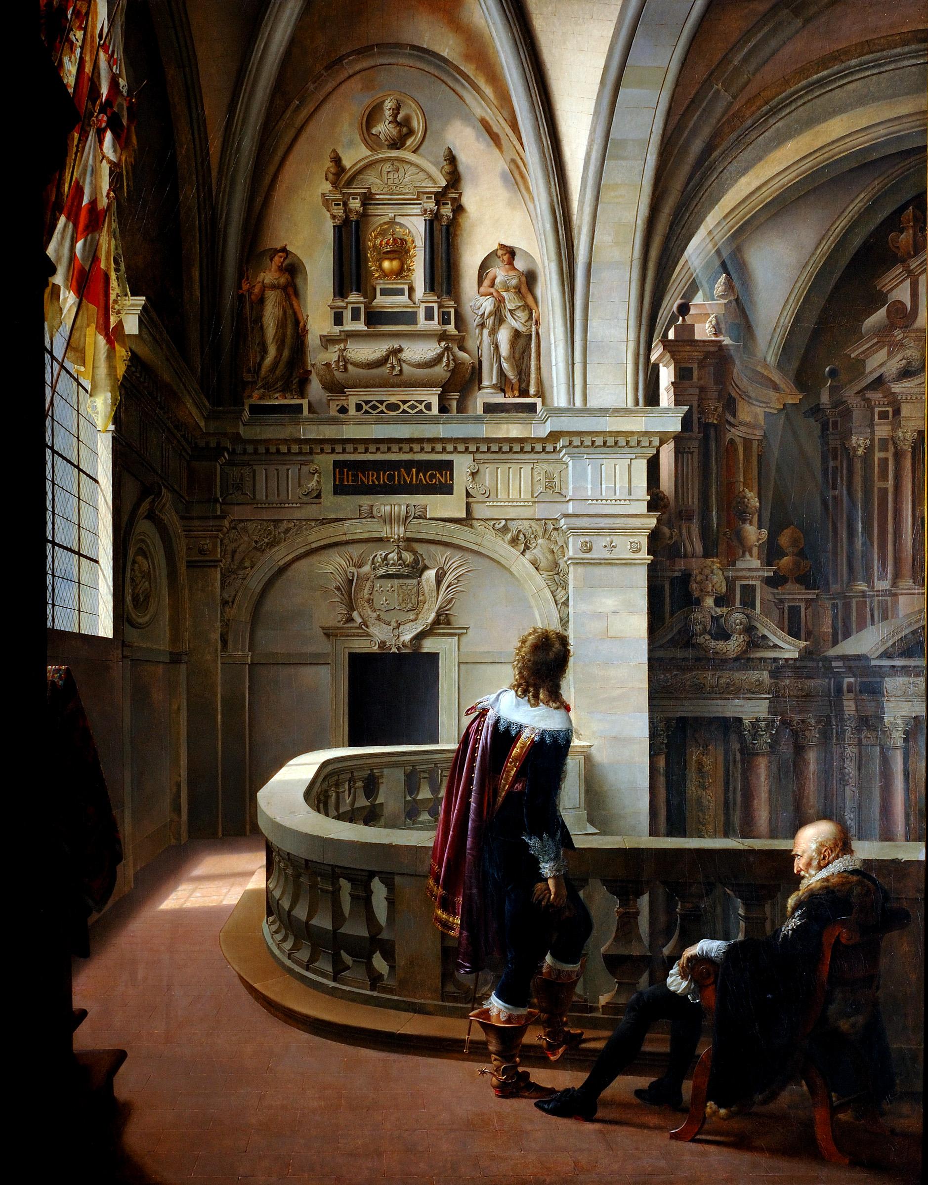 """""""Sully montrant à son petit-fils le coeur de Henri IV à la Flèche """" par Philippe Coupin de la Couperie (1773-1851)"""