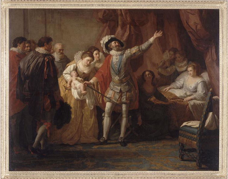 """""""La Naissance de Louis XIII"""" par Jean-Joseph Taillasson (1745-1809)"""