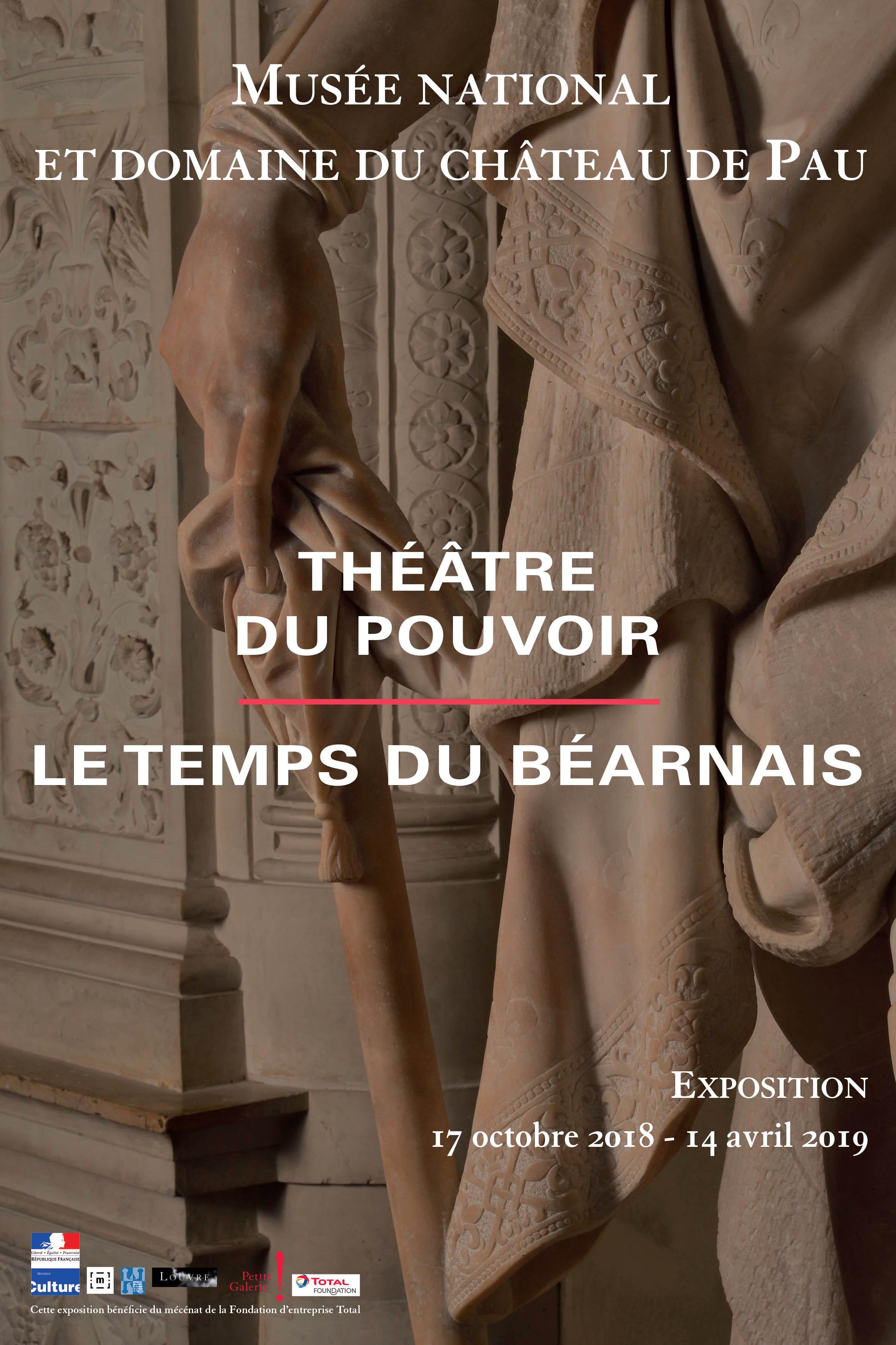 """Affiche de l'exposition - Détails de la sculpture """"Henri IV en pied"""", de Pierre de Franqueville réalisée en 1605 en marbre blanc de Carrare"""