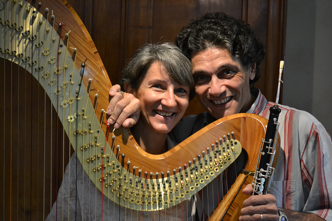 Sophie Marin-Lévy, harpe et Bernard Lévy, hautbois