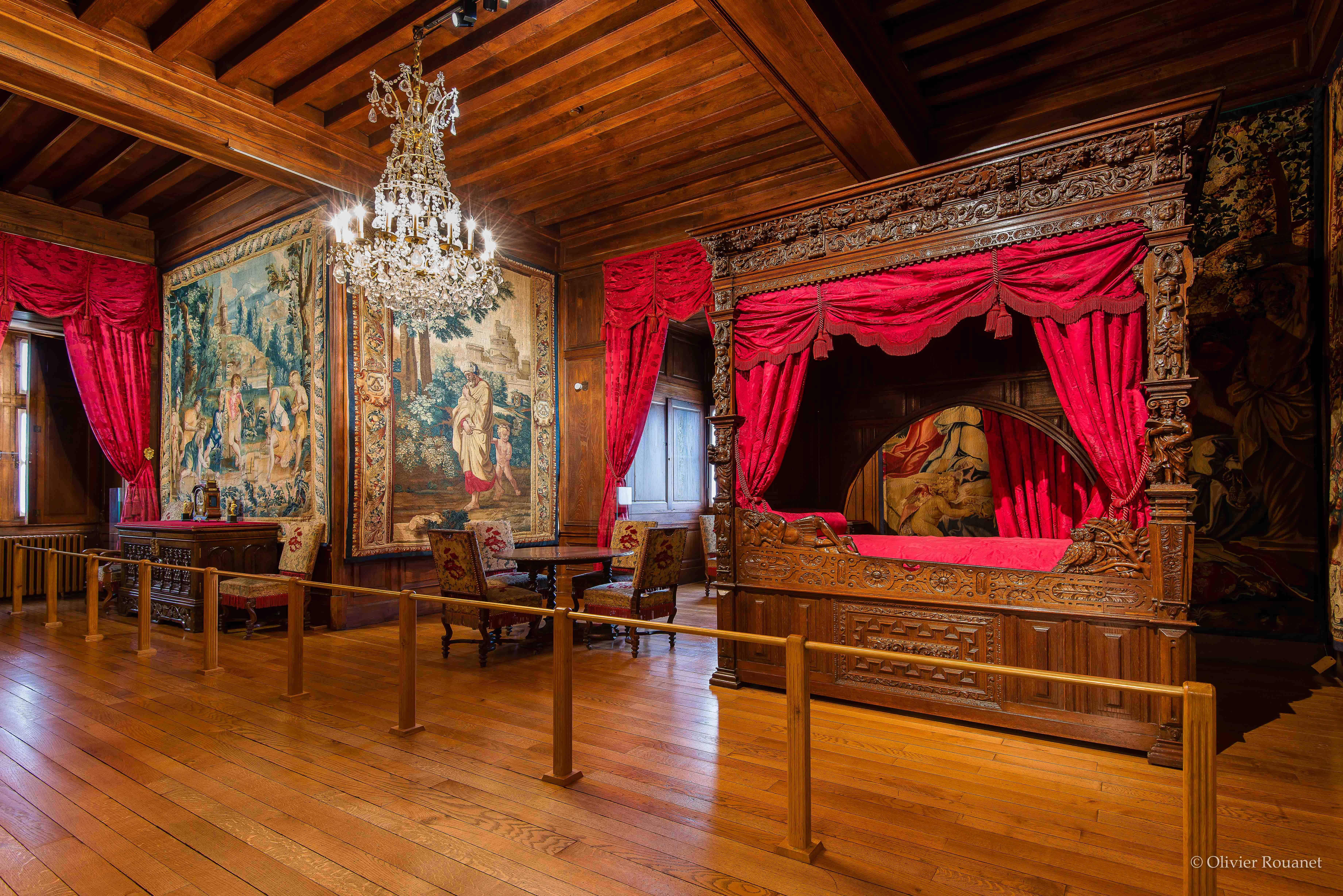 Vue d'ensemble de la chambre de Jeanne d'Albret