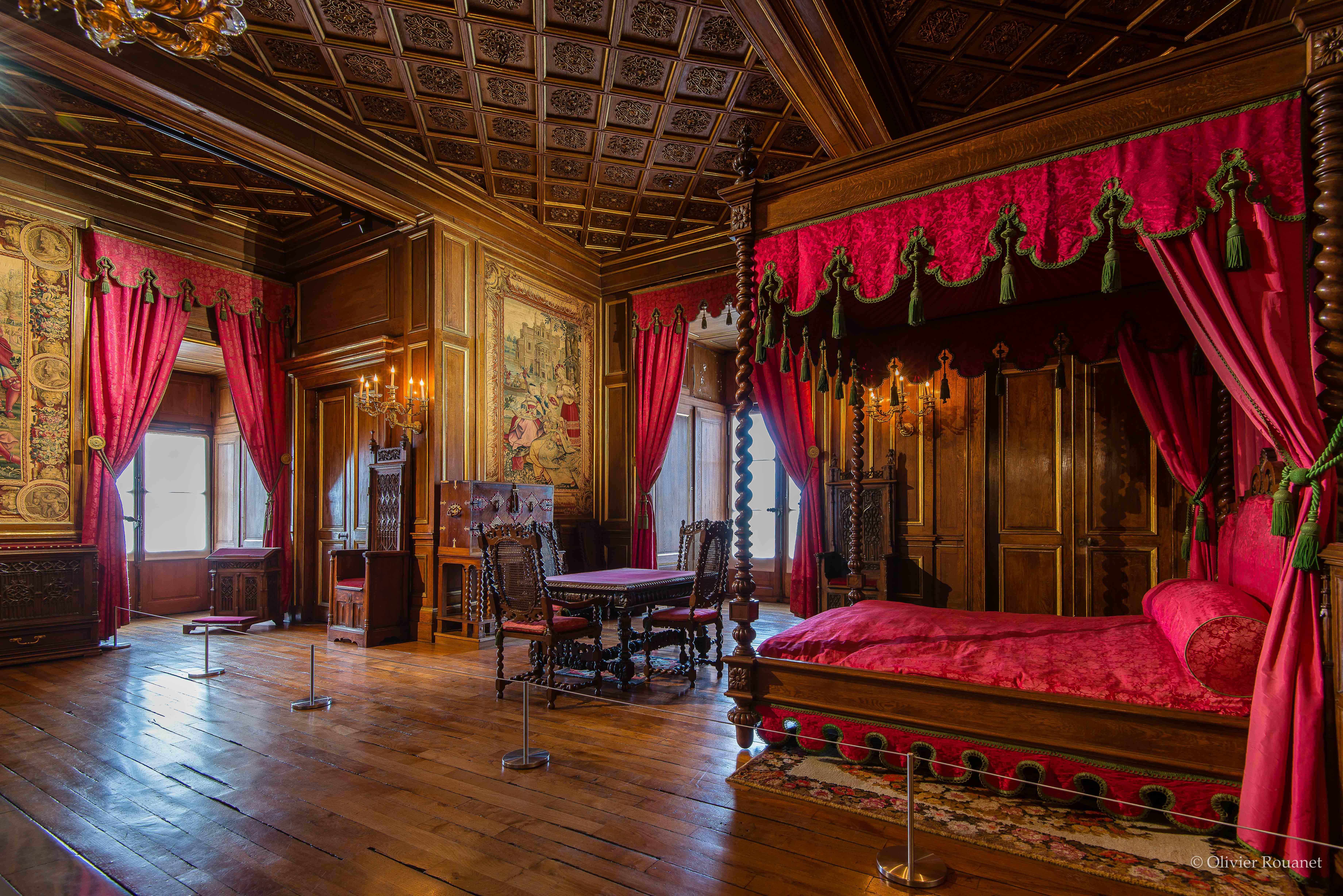 Chambre de l'empereur - Château de Pau - vue d'ensemble