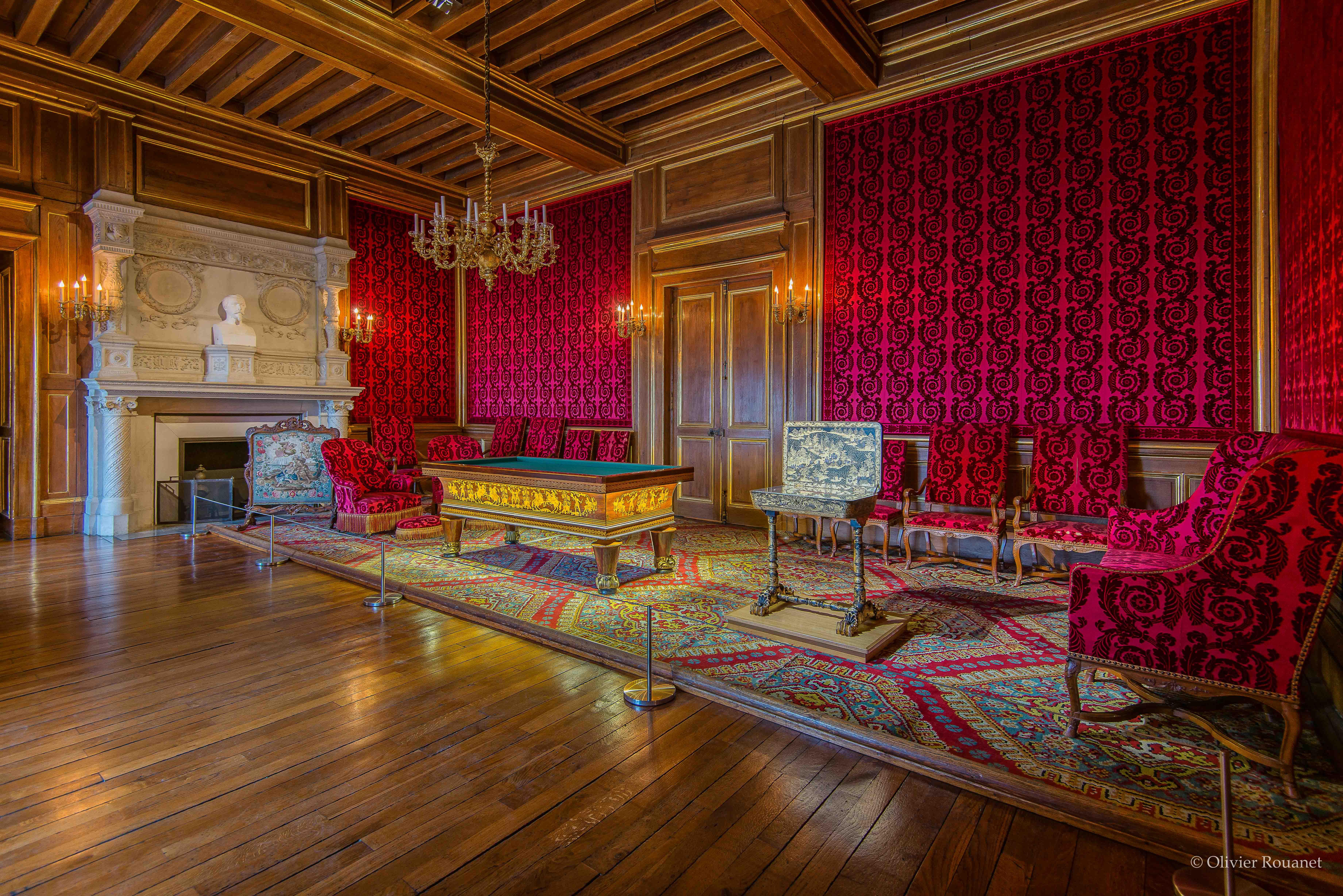 Vue d'ensemble du salon de famille - Château de Pau